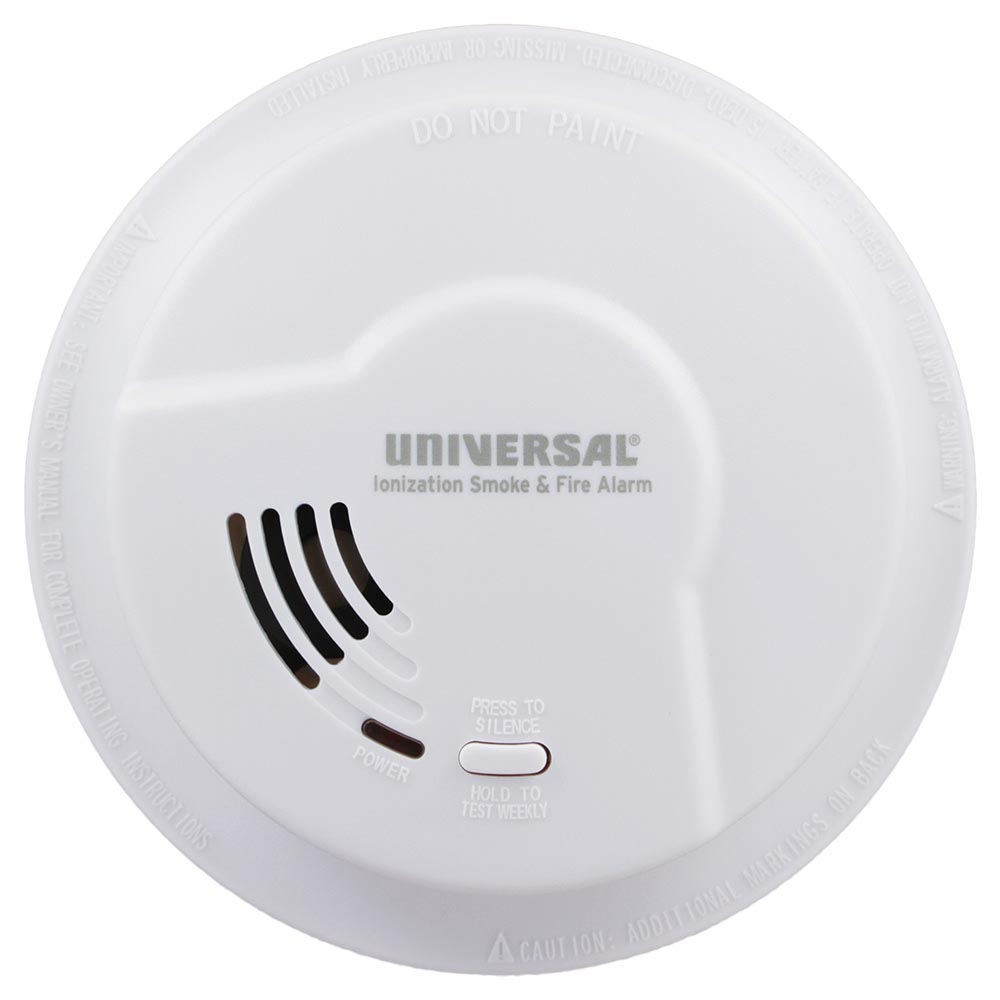 Universal Security Instruments Quick Change Battery-Operated Ionization Smoke & Fire Alarm (976LR)