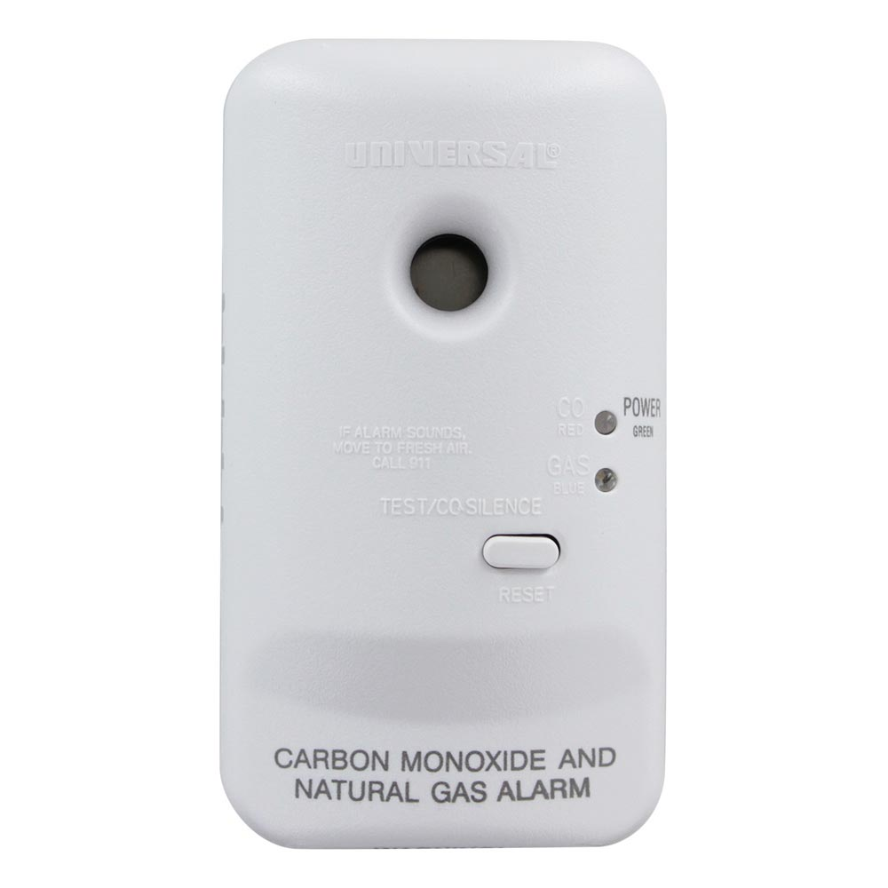 Universal Security Instruments Plug-In 2-in-1 Carbon Monoxide and Natural Gas Smart Alarm with Battery Backup (MCN400B)