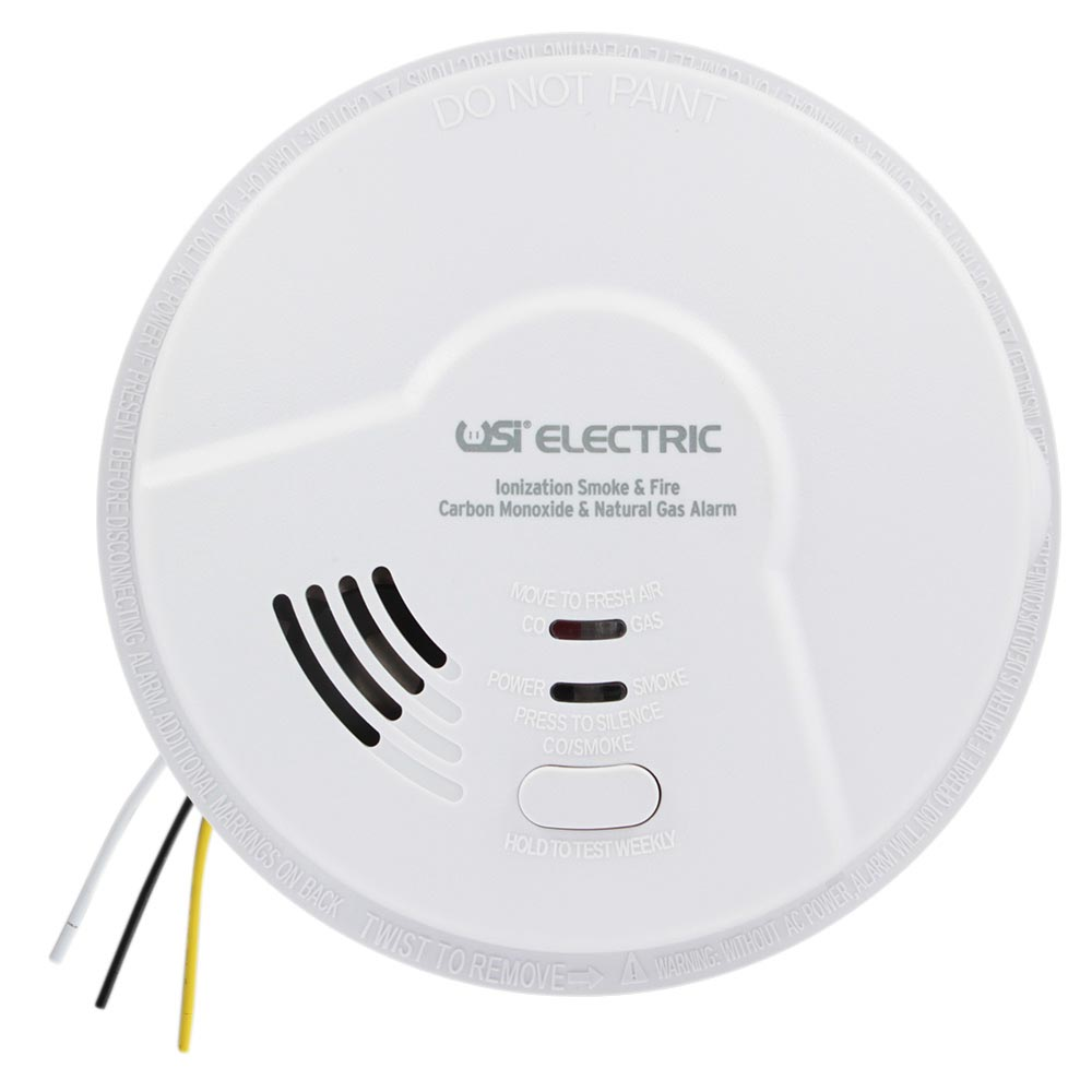 Hardwired Universal Smoke Sensing Smart Alarm Smoke, Fire, CO and Natural Gas Detection