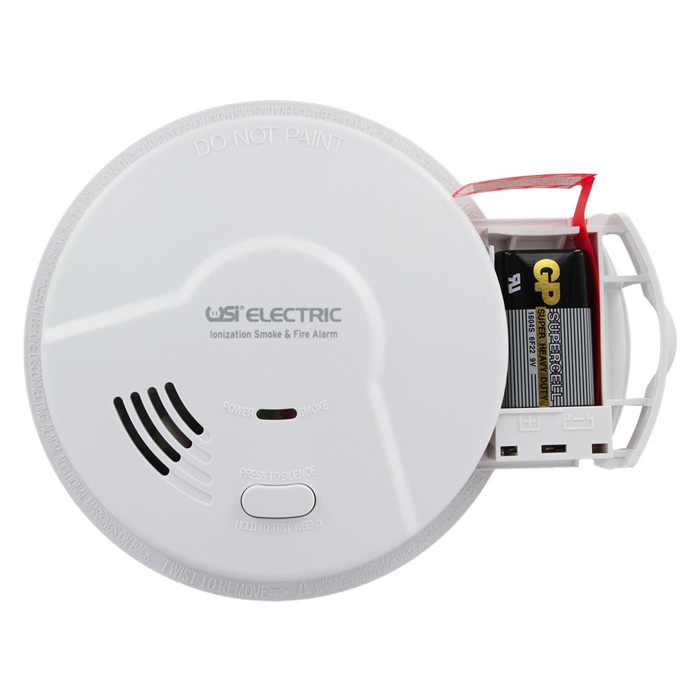 USI Electric Hardwired Ionization Smoke and Fire Alarm with Battery Backup (MI106)