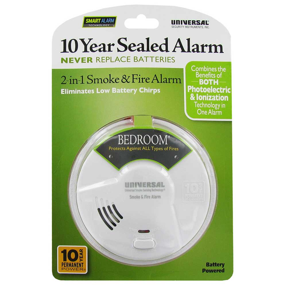 10 year Sealed Battery Smoke and Fire Alarms