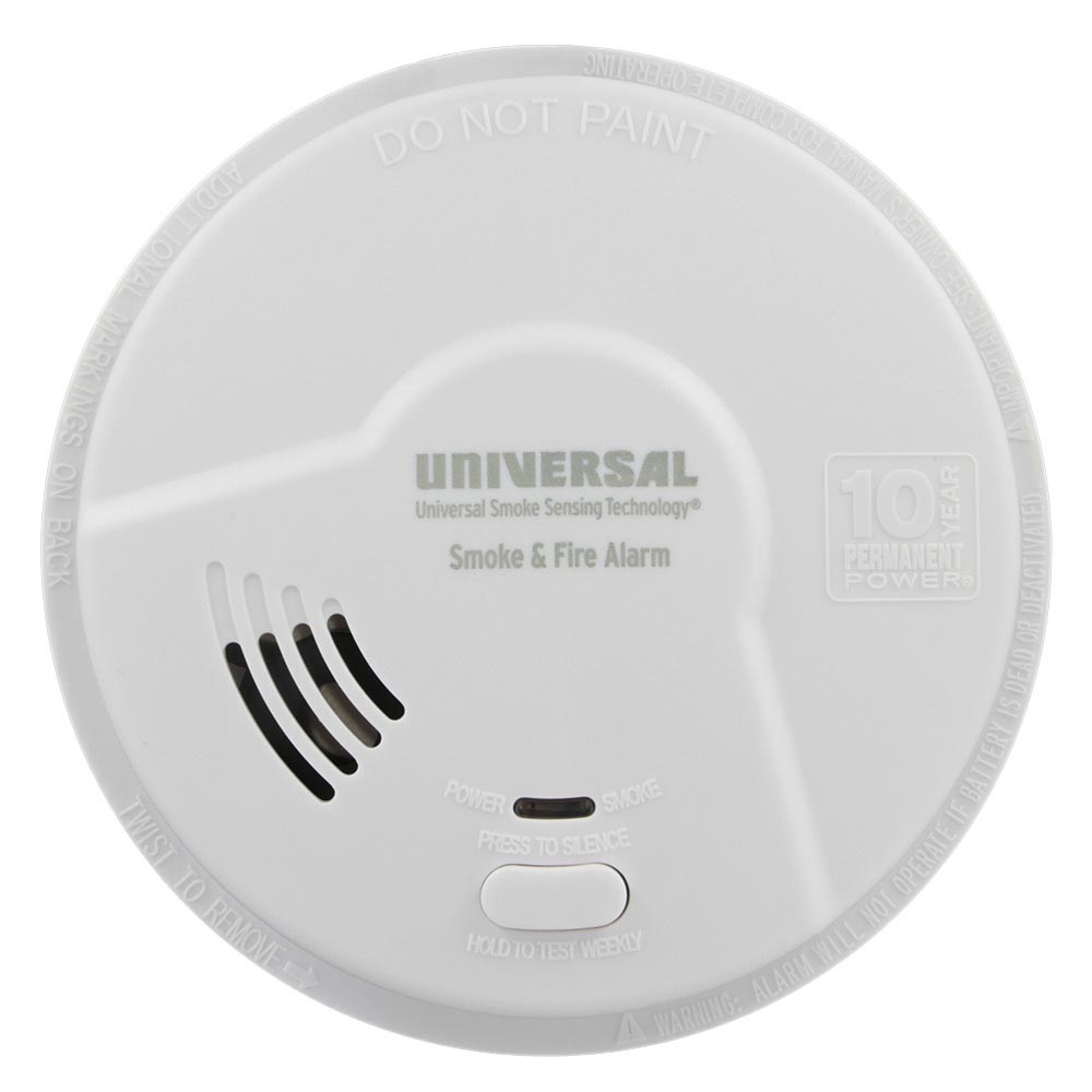 USI 10 Year Battery Bedroom Smoke and Fire Smart Alarm