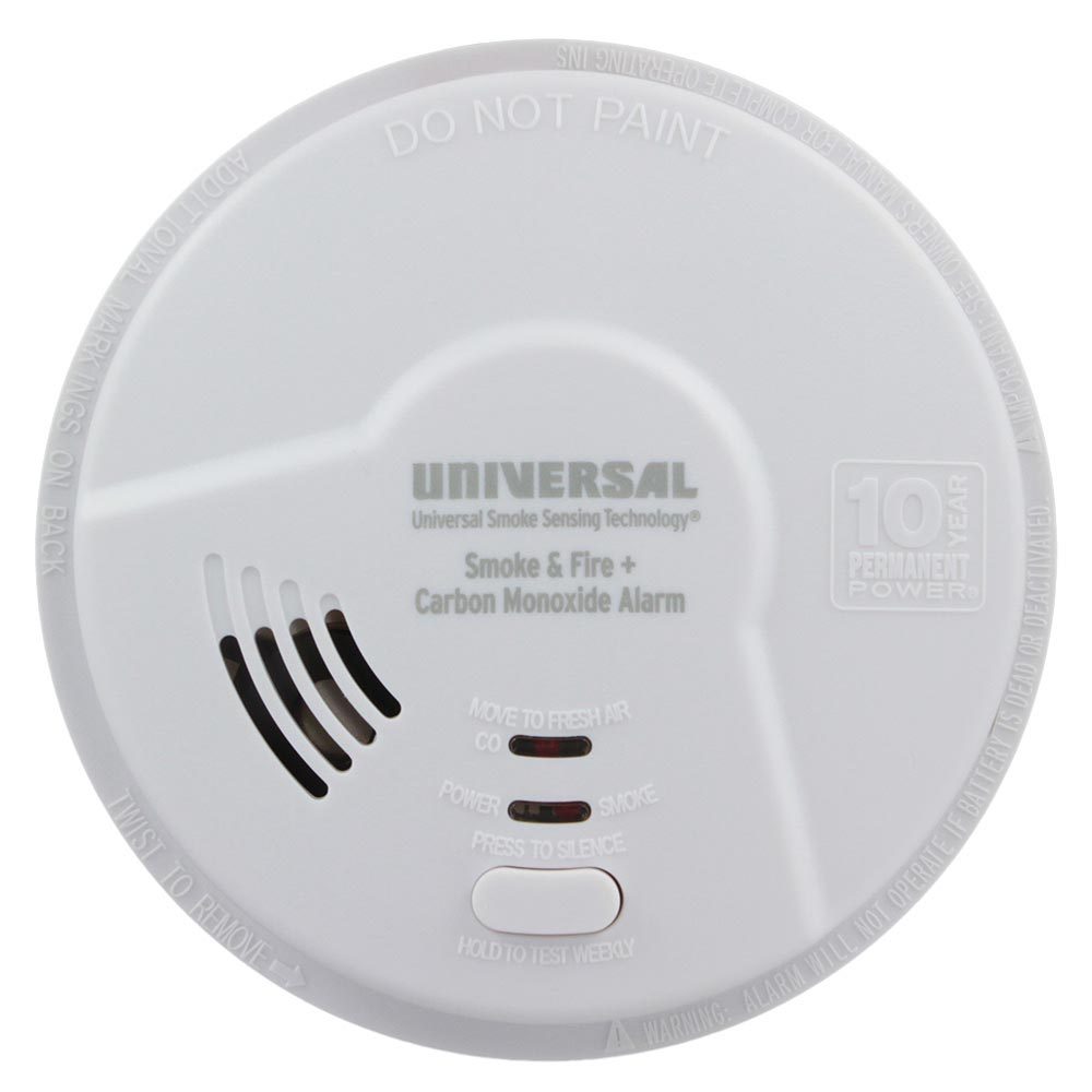 USI Hallway 3-in-1 Smoke, Fire and Carbon Monoxide Smart Alarm with 10 Year Tamper-Proof Sealed Battery (MICH3510S)