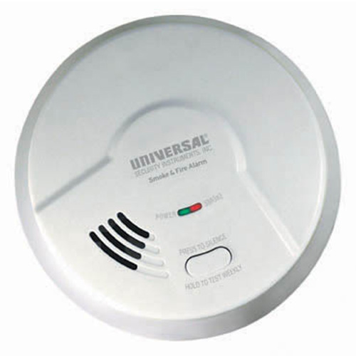 Universal Security Instruments Smart Battery-Operated Photoelectric Smoke and Fire Alarm (MP308)