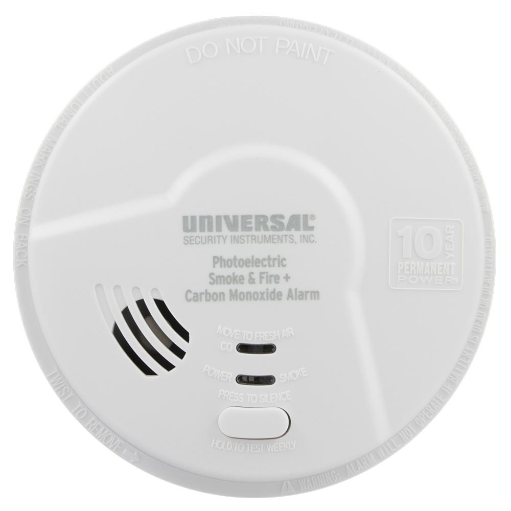 USI Hallway 10 Year Tamper Proof Permanent Power Sealed Battery 2-in-1 Photoelectric Smoke & Carbon Monoxide Smart Alarm (MPC322SB)