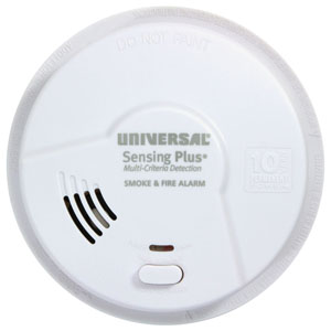 Universal Security Instruments Sensing Plus Multi Criteria Kitchen Smoke & Fire Alarm With 10 Year Tamper Proof Sealed Battery (AMIK3051SC)