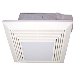 USI Electric Bath Exhaust Fan with Custom-Designed Motor and 26-Watt Fluorescent Light, 110 CFM (BF-1104LF)