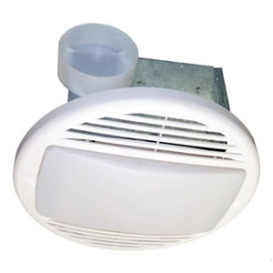 USI Electric Bath Exhaust Fan with Custom-Designed Motor and 100-Watt Lamp, 70 CFM (BF-704L)