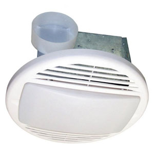 USI Electric Bath Exhaust Fan with Custom-Designed Motor and 26-Watt Fluorescent Light, 70 CFM (BF-704LF)