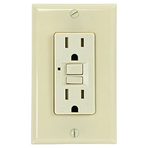 USI Electric 15 Amp Self Test GFCI Tamper-Resistant Receptacle Duplex Outlet, Ivory - G1315TRIV