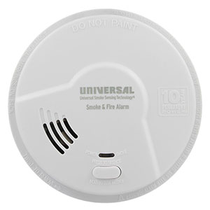 USI Bedroom 2-in-1 Smoke and Fire Smart Alarm with 10 Year Sealed Battery & Universal Smoke Sensing Technology (MIB3050S)
