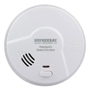 USI Living Area 10 Year Tamper Proof Permanent Power Sealed Battery Photoelectric Smoke & Fire Smart Alarm (MP316SB)