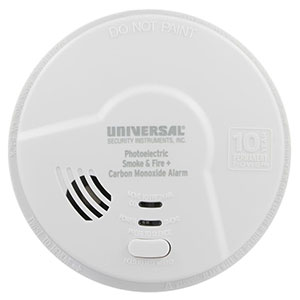 USI Hallway 10 Year Battery Photoelectric Smoke & Carbon Monoxide Alarm MPC322SB